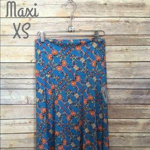 LuLaRoe Floral XS Maxi Skirt